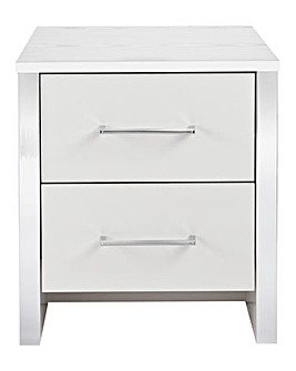 Luna 2-Drawer Bedside Table