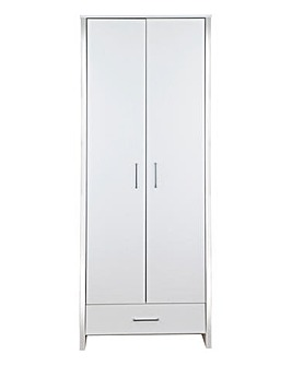 Luna 2-Door 1-Drawer Wardrobe