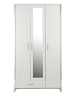 Luna 3-Door 1-Drawer Wardrobe