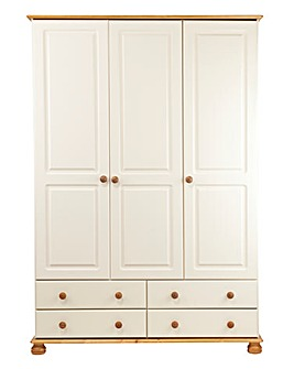 Stamford 3 Door 4 Drawer Wardrobe