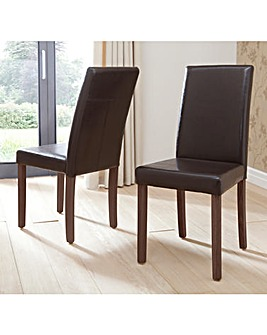 Madison Pair of Faux Leather Chairs