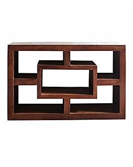 Java Acacia Wood Wide Display Unit