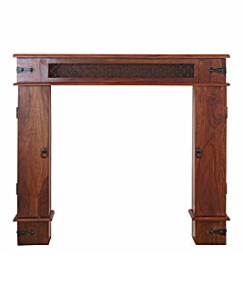 Jaipur Solid Sheesham Wood Fire Surround
