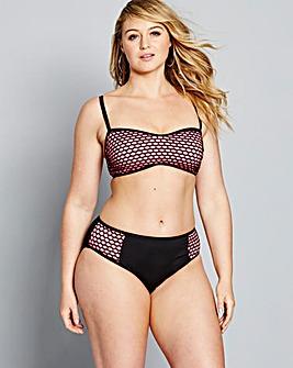 Simply Yours Mesh Bandeau Bikini Set
