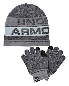 Under Armour Boys Beanie and Gloves Set