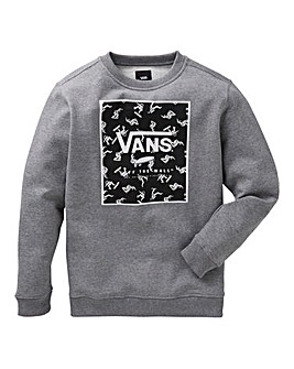 Vans Boys Print Box Crew Sweatshirt