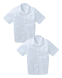 Girls Pack of Two Short Sleeve Blouses