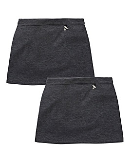 Girls Pack of Two Ponti Skirts