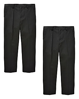 Boys Pack of Two Trousers Generous Fit