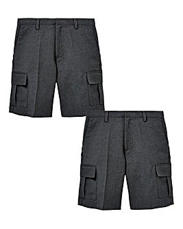 Boys Pack of Two Cargo Shorts Generous