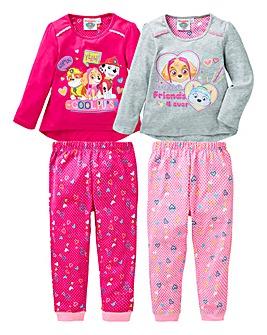Paw Patrol Pack of Two Pyjamas