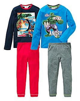 Marvel Avengers Pack of Two Pyjamas