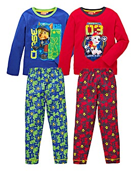 Paw Patrol Pack of Two Pyjamas