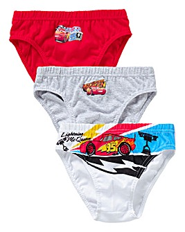 Cars Pack of Three Briefs
