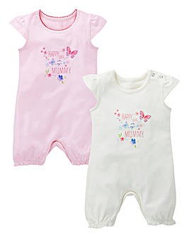 KD Baby Girl Pack of Two Rompers