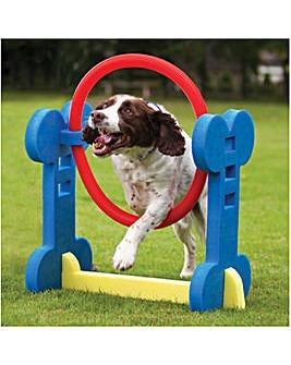 Small Dog Agility Hoop Jump