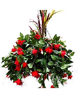 Artificial Plant Fuchsia Basket