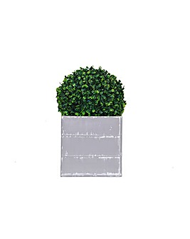 Artificial Topiary Boxwood Ball Planter