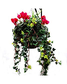 Artificial Plant Cyclamen Basket