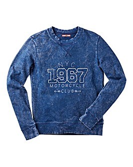 Joe Browns Boys Acid Wash Sweat Top
