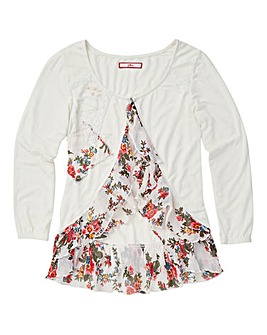Joe Browns Girls Floral Frill Cardigan