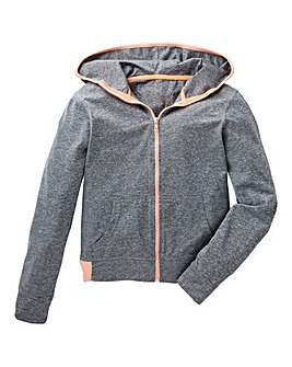 KD Active Girls Grey Full Zip Hoodie