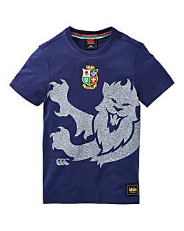 Canterbury Boys Marl Print Lion Tee