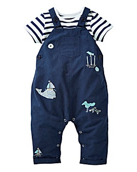 KD Baby Boy Nautical Dungaree and T-Shir