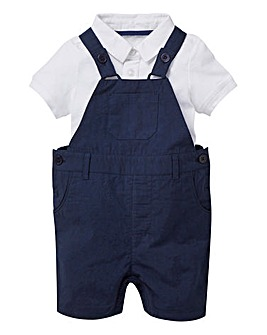 KD Baby Boy Polo and Dungaree Set