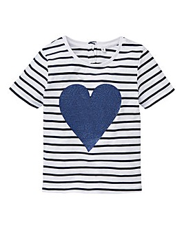 KD Girls Sequin Heart T-Shirt