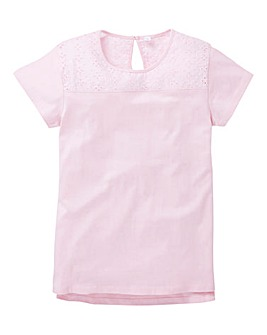 KD Girls Crochet Trim T-Shirt