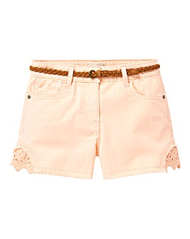 KD Girls Denim Shorts With Belt