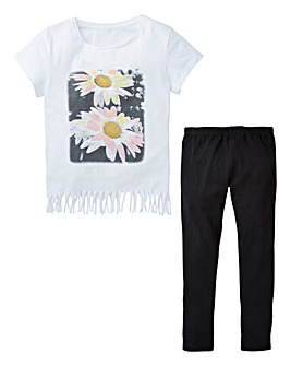 KD Girls Top and Leggings Set