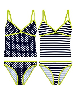 KD Girls Pack of Two Tankinis