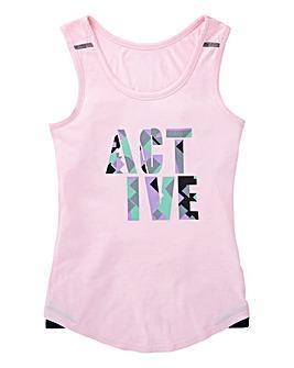 KD Active Girls Pink Long Lined Vest
