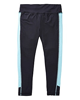 KD Active Girls Black Capri Pants