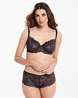 Daisy Lace Full Cup Charcoal Bra
