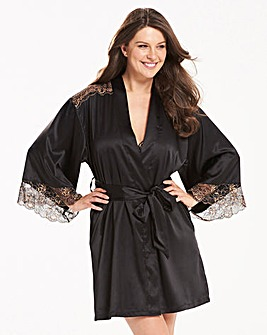 Ella Lace Black/Gold Robe