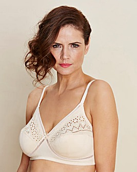 Pink Two Pack Criss Cross Non Wired Bras