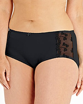 Ava Embroidered Black Shorts