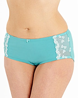 Ava Embroidered Teal Shorts