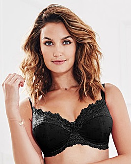 Full Cup Wired Padded Black Bra