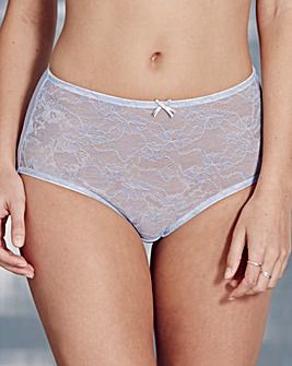 Corded Lace Blue/Natural Briefs