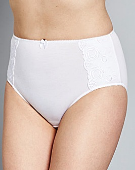 Iris FullFit Cotton Comfort White Briefs