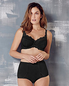 Ruby Minimiser Wired Black Bra
