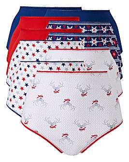 Christmas 10 Pack Full Fit Cotton Briefs