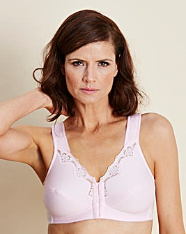 2 Pack F/Fastening Rose/White Bras