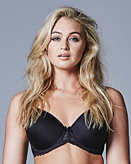 Pretty Secrets Black Wired T Shirt Bra