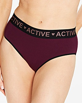 3 Pack Active Cotton Rich Midi Briefs