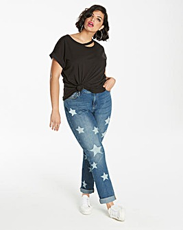 Layla Star Distressed Boyfriend Jeans